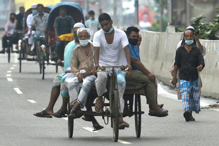 Bangladesh is under lockdown battling a dire new surge of the Delta variant of the coronavirus.