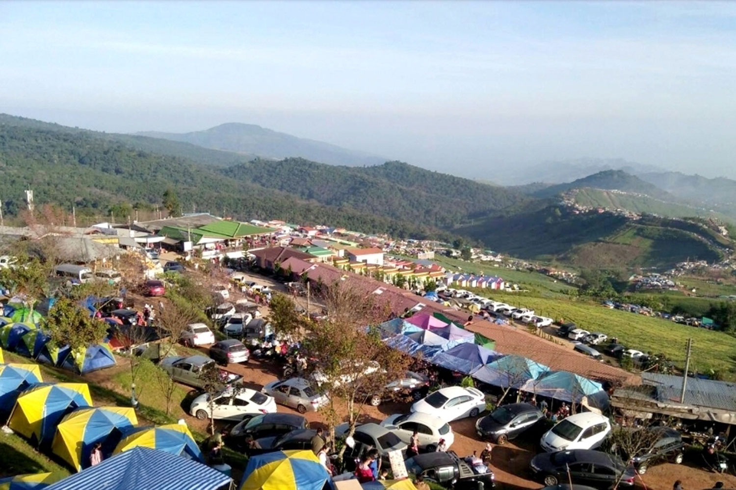 Phu Thap Boek in Lom Kao district of Phetchabun is a popular tourist attraction but community leaders say residents' health and safety outweighs any economic benefits for now. (Photo: Sunthorn Kongwarakom)