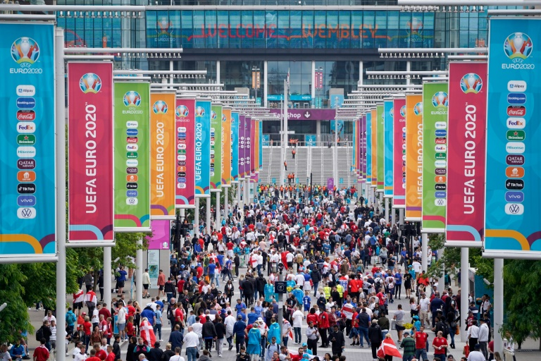 Authorities have warned against large gatherings ahead of the Euro 2020 football final at Wembley, fearful of coronavirus outbreaks.
