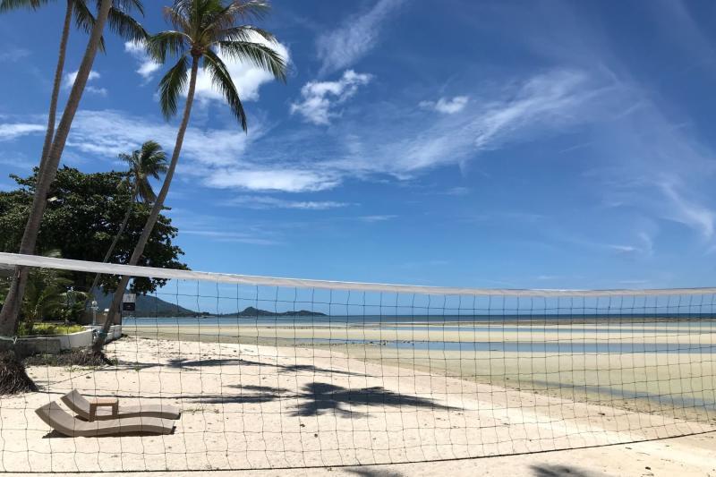 The beach is deserted by Shiva Samui resort in tambon Maret, Koh Samui, Surat Thani province on July 3, 2021. (Photo: Dave Kendall)