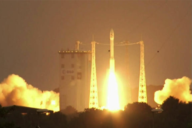 An Arianspace Vega rocket launches from French Guiana on Sept 3, 2020, carrying Napa1, the Royal Thai Air Force's first security satellite, into orbit. Thailand has over 35,600 businesses linked to space and related industries. (Photo: Royal Thai Air Force)  - c1 2148599 210714121922 - Cabinet aproves draft Space Affairs Bill
