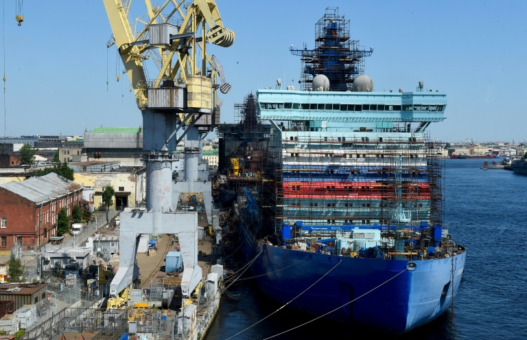 Russia's nuclear-powered icebreaker Sibir is one of four aimed at ensuring Moscow's dominance over the melting Arctic.