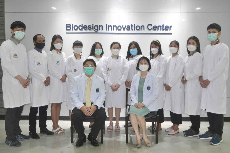 The developers of new Covid-19 test kits. (Siriraj Hospital photo)
