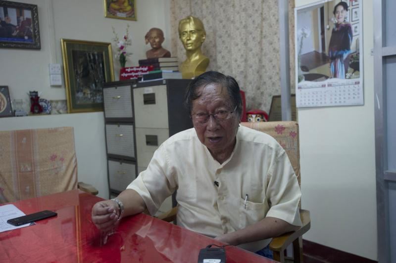Myanmar's National League of Democracy (NLD) spokesman Nyan Win talks during an interview at the party headquarters in Yangon on Nov 19, 2014. (AFP file photo)