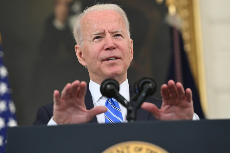 US President Joe Biden sought to allay fears about inflation, saying the price spikes hitting Americans in their pocketsbooks was just temporary and that the economy continued to improve.