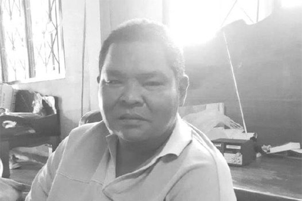 Naruphon Wongyaem, one of the firefighters who battled the blaze at the Ming Dih factory in Bang Phli district of Samut Prakan on July 5, died of Covid-19 on Wednesday. (Photo from fire and rescue unit of the Tambon Administration Organisation of Bang Chaloeng Facebook account)