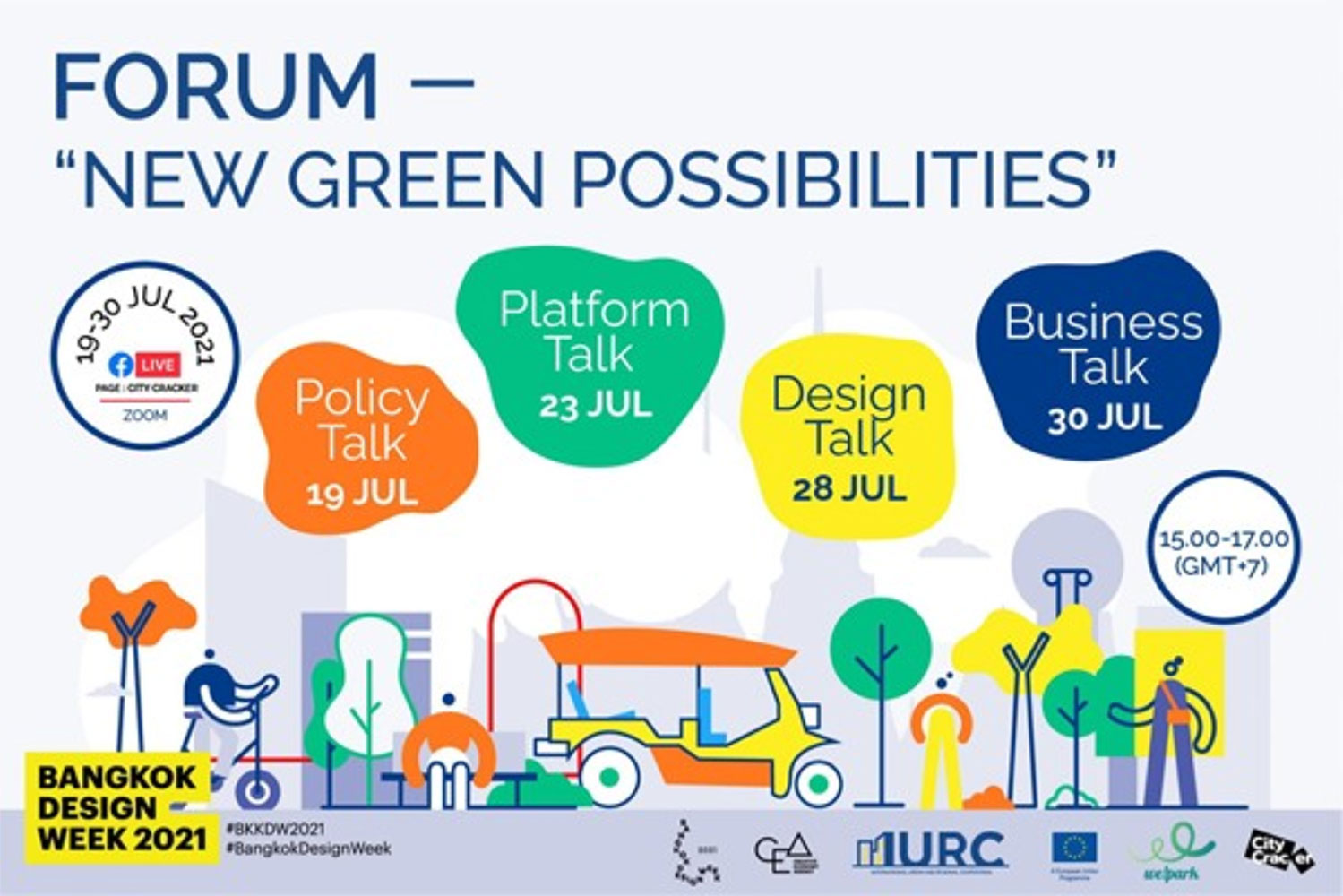 """Frasers Property Holdings (Thailand) invites you to join  """"New Green Possibilities"""" international online forum  on the topic """"Green Business Pathway""""  on 30 July 2021, 3:00 - 5:30 PM."""