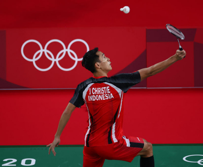 Image Indonesian badminton ace playing for Covid-victim brother