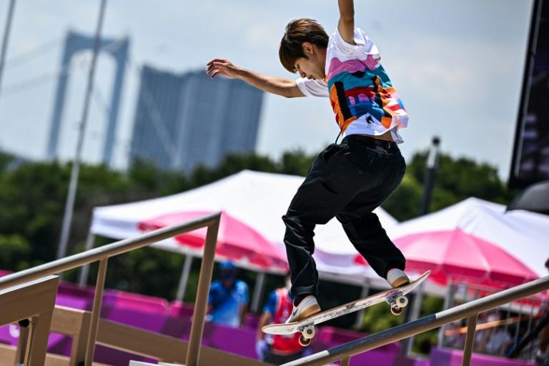 Nikkan Sports hailed 'a major step for skateboarding with Horigome's gold'