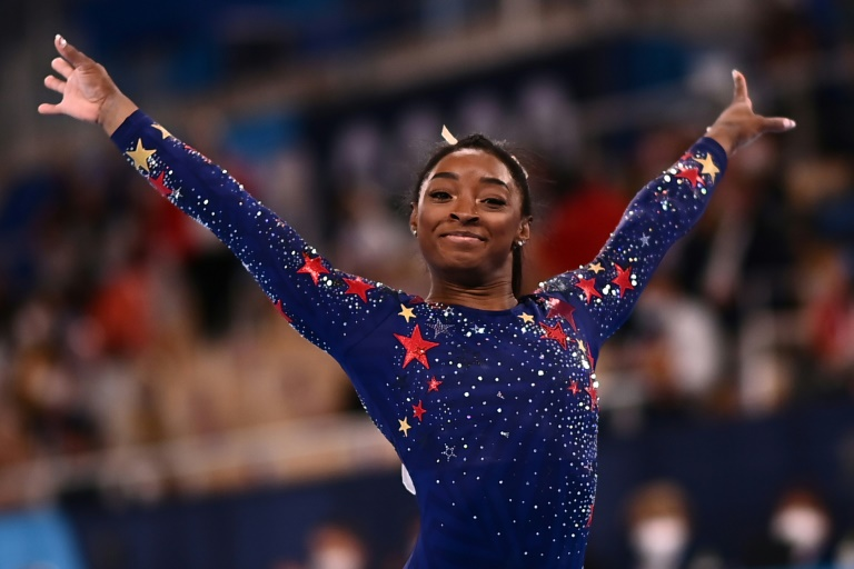 Gymnastics star Simone Biles is part of a US team going for Olympic gold in the women's team event