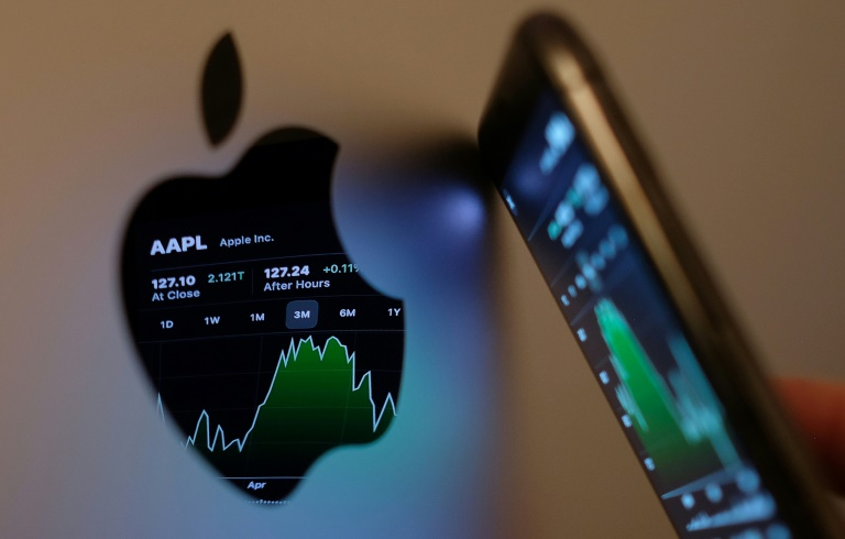 Apple said revenue from iPhone sales jumped some 50 percent and posted increases for its increasingly important services such as digital payments, music, streaming television and gaming.