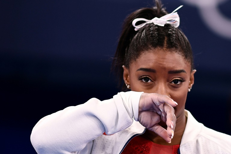 Biles pulls out of Olympic all-around title defence as support pours in