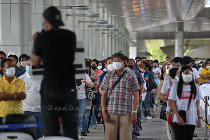 Online vaccination bookings quota for Bang Sue station quickly filled