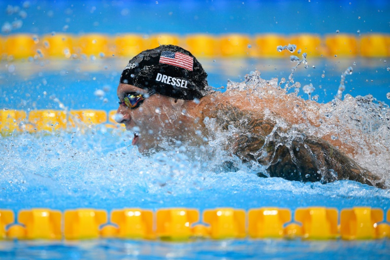 Caeleb Dressel is looking to add to his two Olympic gold medals won in Tokyo so far
