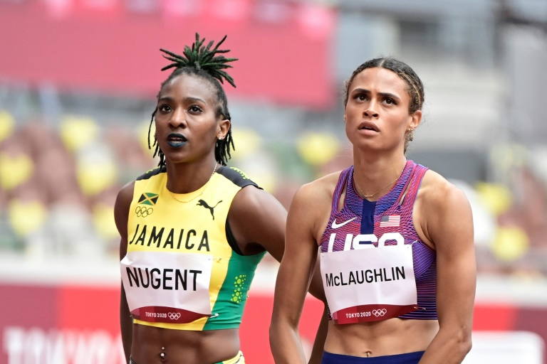US hurdlers sparkle at Olympics, Nigerian sprinter cast out for doping
