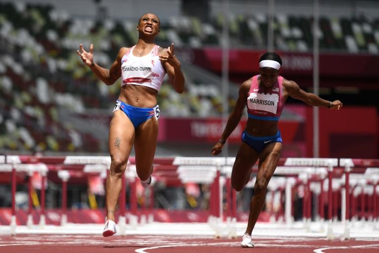 Puerto Rico win first Olympics athletics gold, Belarusian sprinter 'safe'