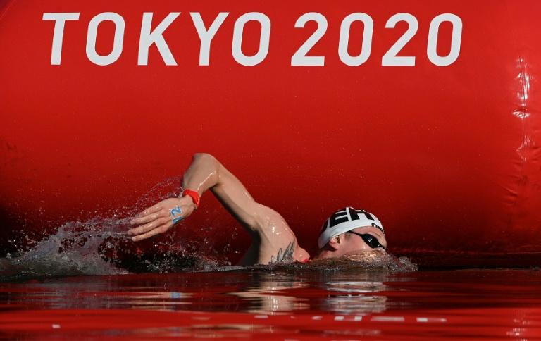Germany's Wellbrock doubles up to win Olympic marathon swim
