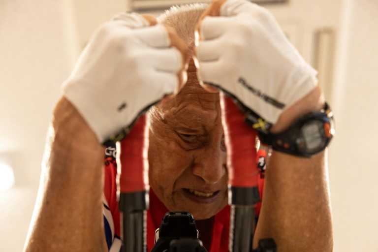 In Japan, world's oldest Ironman seeks Olympic tips