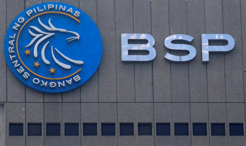 FILE PHOTO: A logo of Bangko Sentral ng Pilipinas (Central Bank of the Philippines) is seen at their main building in Manila, Philippines March 23, 2016. (Reuters)