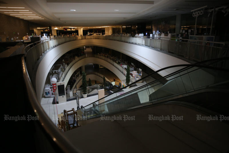 The Mall Bang Kapi shopping centre is one of the malls in Bangkok and other red-zone provinces ordered to close due to the Covid-19 pandemic. (Photo: Varuth Hirunyatheb)
