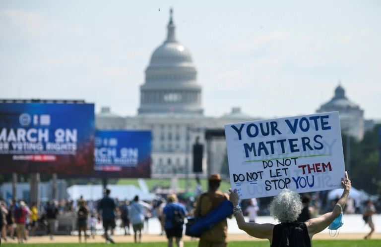 Thousands protest curbs on minority voting rights in US