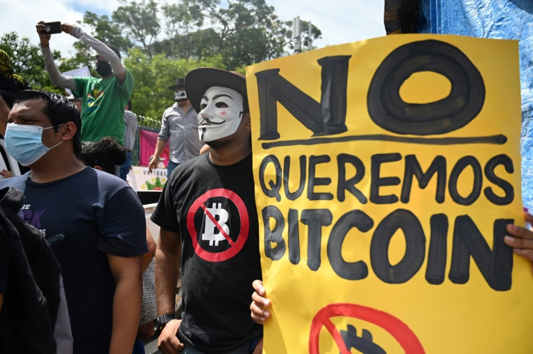 A recent opinion poll found that 70 percent of Salvadorans opposed the adoption of bitcoin as legal tender, and hundreds protested against it on Sept 1, 2021.