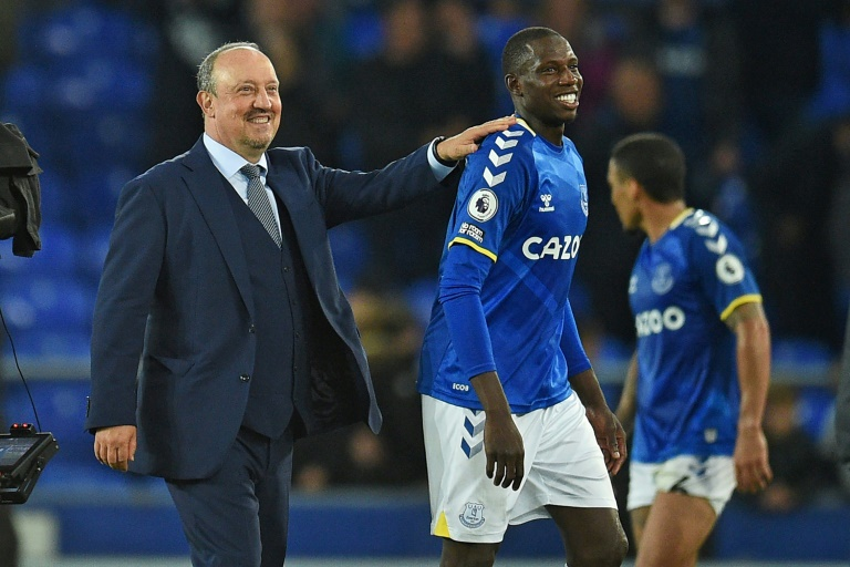 Rafael Benitez (left) has taken 10 points from his opening four Premier League games as Everton manager.