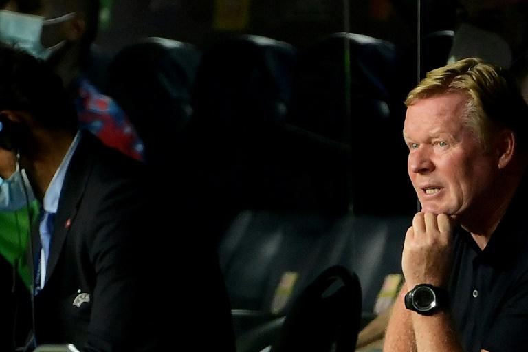 Ronald Koeman is under pressure as Barcelona face Granada in La Liga on Monday.