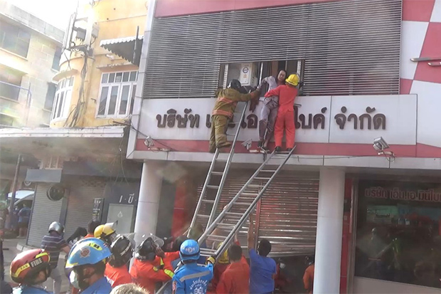 Fire hits Hat Yai motorcycle showroom