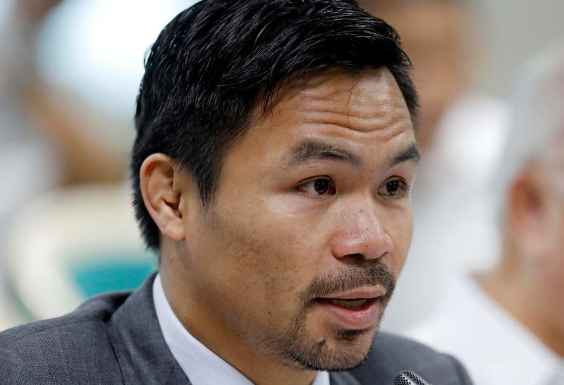 Philippine boxer Pacquiao announces bid for presidency in 2022