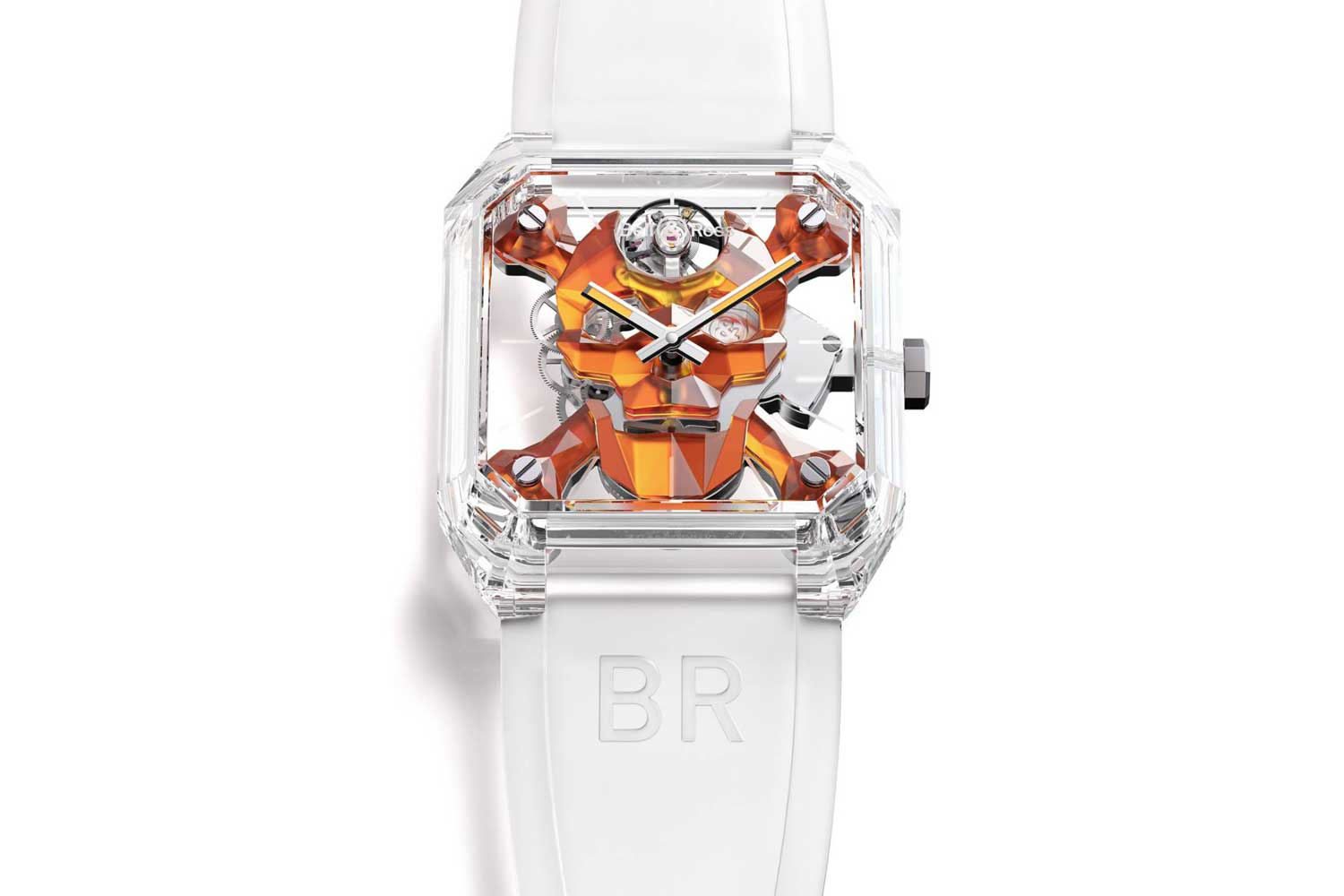 BR 01 CYBER SKULL SAPPHIRE ONLY WATCH