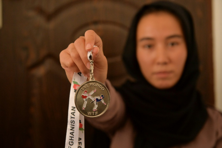 Around 130 Afghan girls and women aged 12-25 are members of a taekwondo gym in Herat, but they are not allowed to train