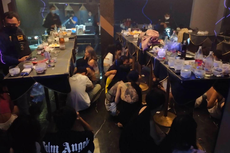59 held, drugs seized at Bangkok hotel