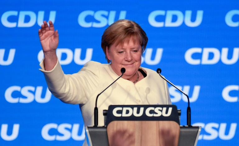 German Chancellor Angela Merkel's conservatives may crash out of government altogether after her 16 years in power