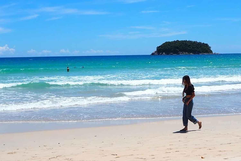 Kata Beach in Phuket during the reopening Phuket sandbox programme in July. (Photo: Dusida Worrachaddejchai)