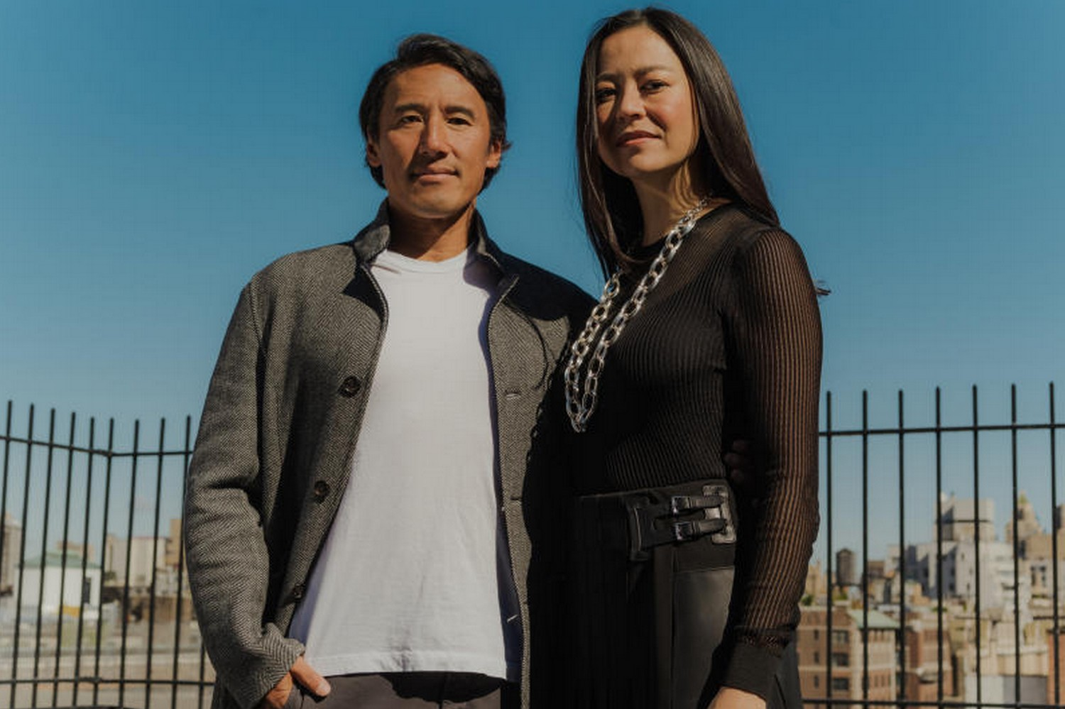 """Elizabeth Chai Vasarhelyi and her husband Jimmy Chin, who have been working on """"The Rescue"""" for three years, in New York on Oct 1. They faced a thorny tangle of rights, permissions and personalities.(Photo: The New York Times)"""