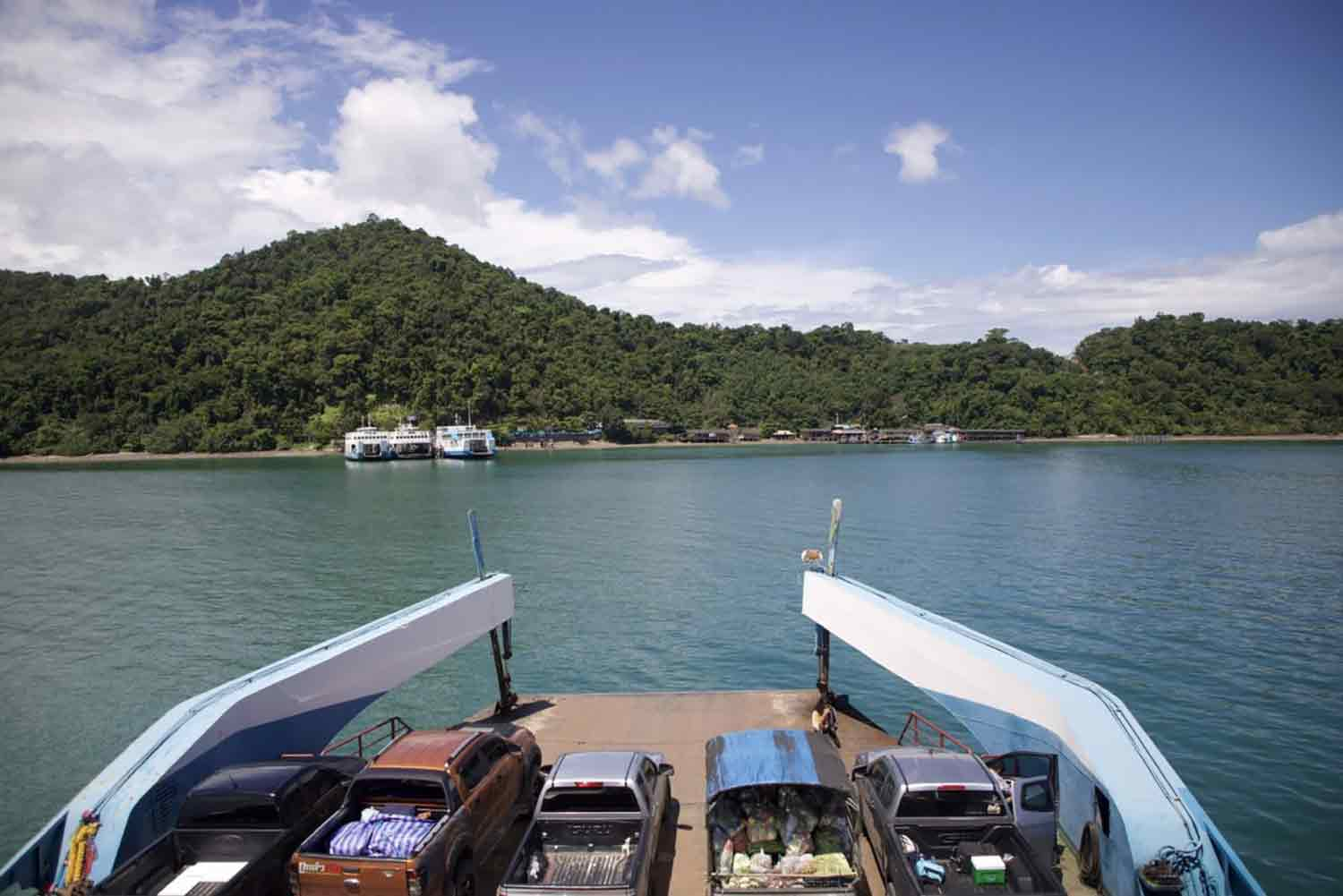 Residents and visitors going between the mainland of Trat and Koh Chang must travel by ferry, which takes 30–45 minutes. (Photo: Jakkrit Waewklaihong)