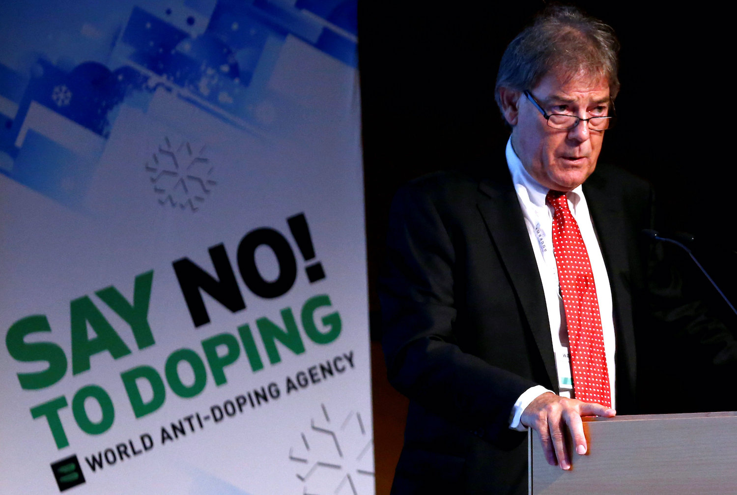 David Howman, former director-general of the World Anti-Doping Agency, addresses a symposium in Lausanne, Switzerland in 2015, shortly after the new World Anti-Doping Code came into effect. (Reuters File Photo)