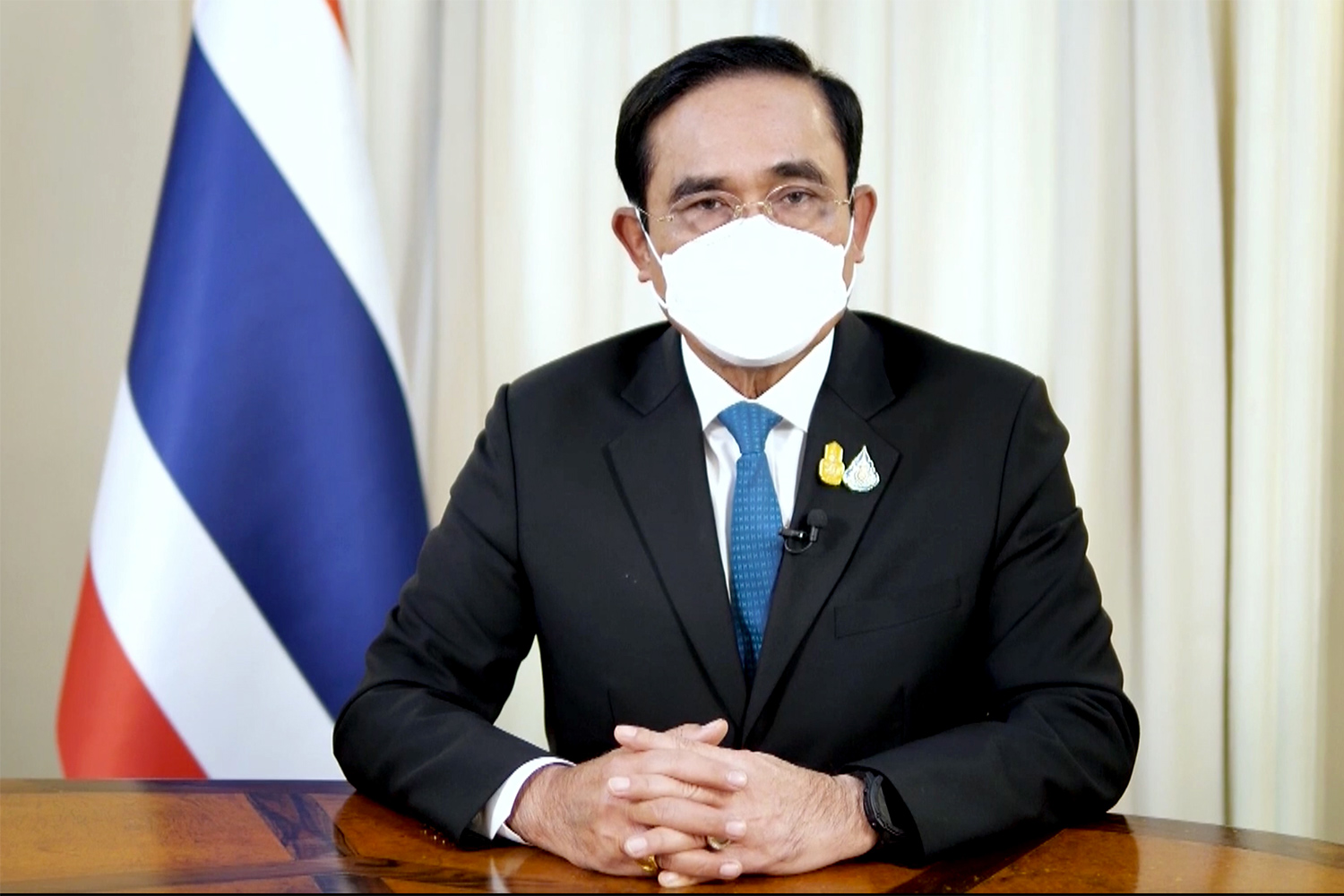 Prime Minister Prayut Chan-o-cha appears on a nationally televised programme to push for the reopening of the country for low-risk countries on Nov 1.