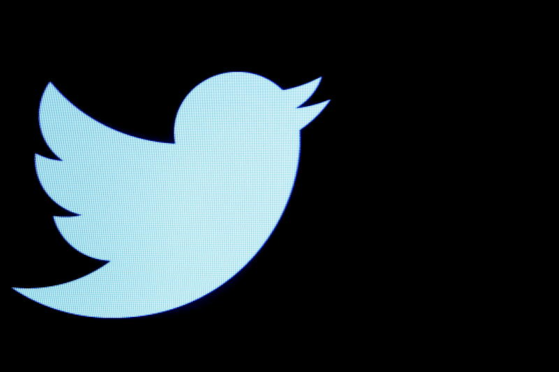 The Twitter logo is displayed on a screen on the floor of the New York Stock Exchange in New York. (Reuters file photo)