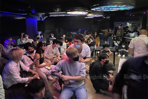 116 Bangkok pub-goers charged for drinking alcohol