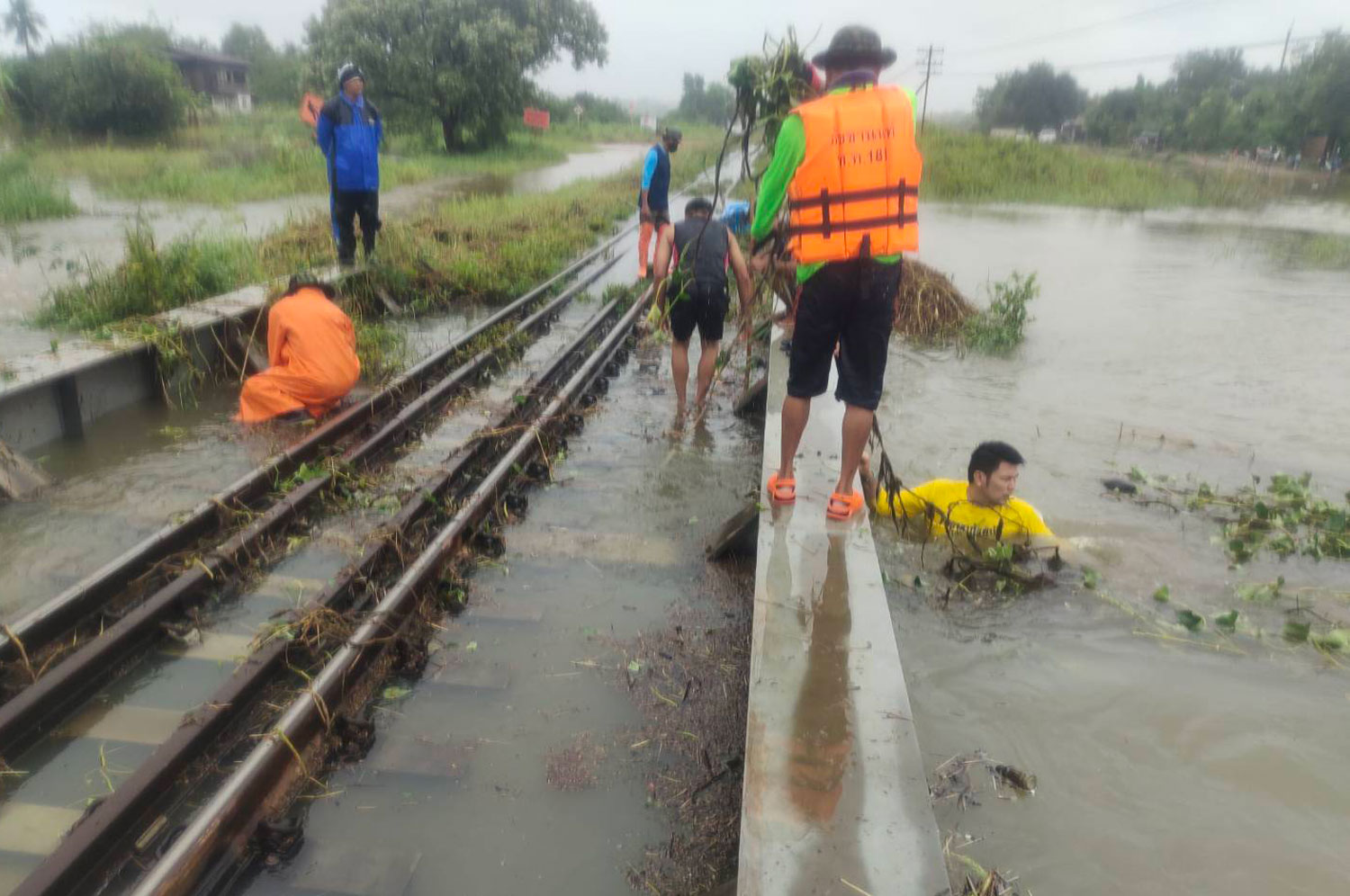 Northeast train services halted, track flooded