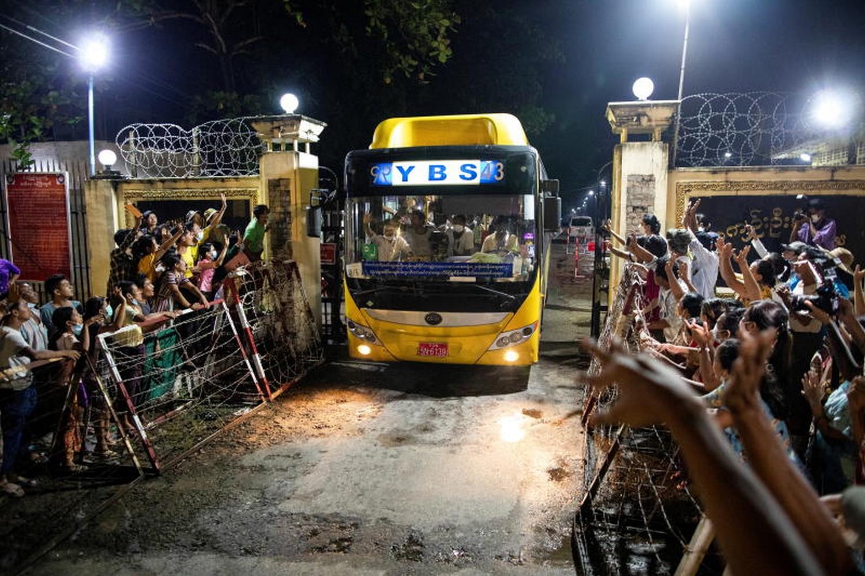 Myanmar frees hundreds of political prisoners after Asean pressure