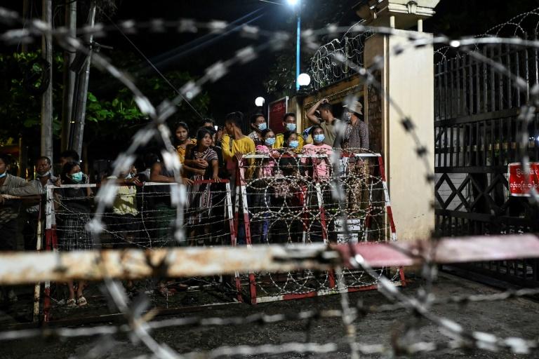 Relatives crowd prison after Myanmar junta protester amnesty