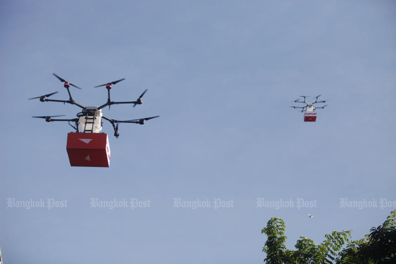 Thailand Post tests parcel delivery by drone