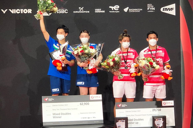 Thai shuttlers lose doubles final to Japan in Denmark
