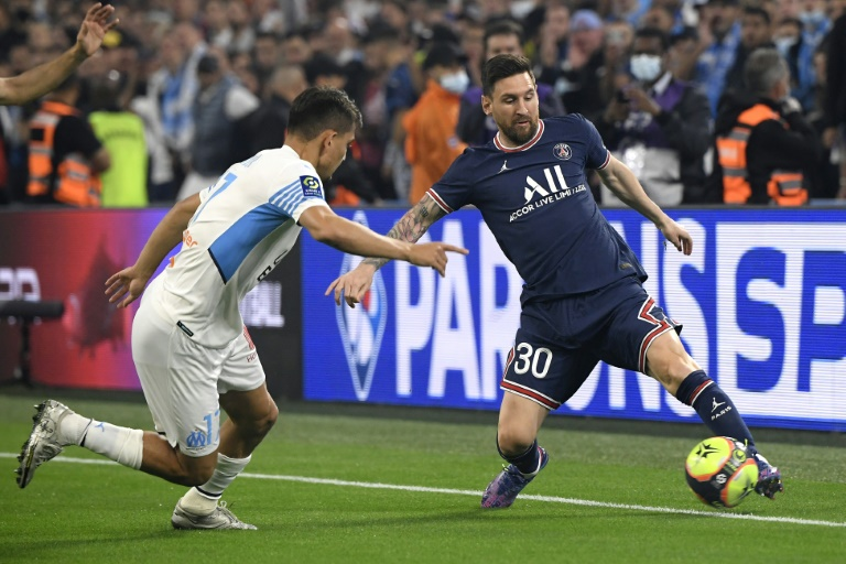 Messi muted as 10-man PSG draw with Marseille