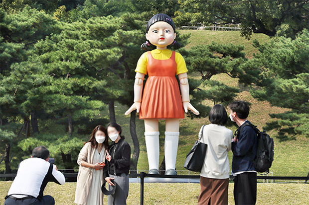 S. Korean tourist locations borrow 'Squid Game' themes as life slowly returns to normal