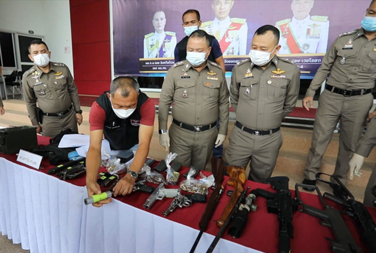 Loei man caught with arms, ammunition