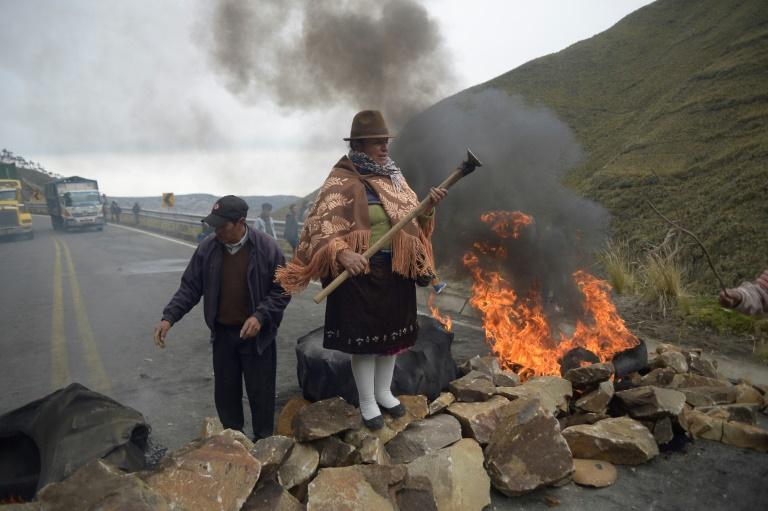 Ecuadorans block roads on Day 2 of fuel price protests